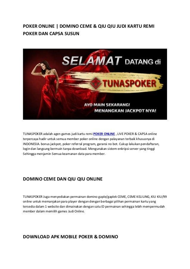 Poker Online Domino Ceme Qiu Qiu Tunaspoker