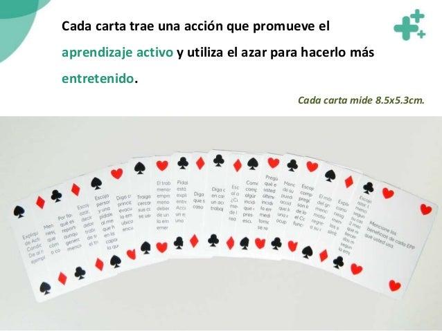 Cada carta trae una acción que promueve el aprendizaje activo y utiliza el azar para hacerlo más entretenido. Cada carta m...
