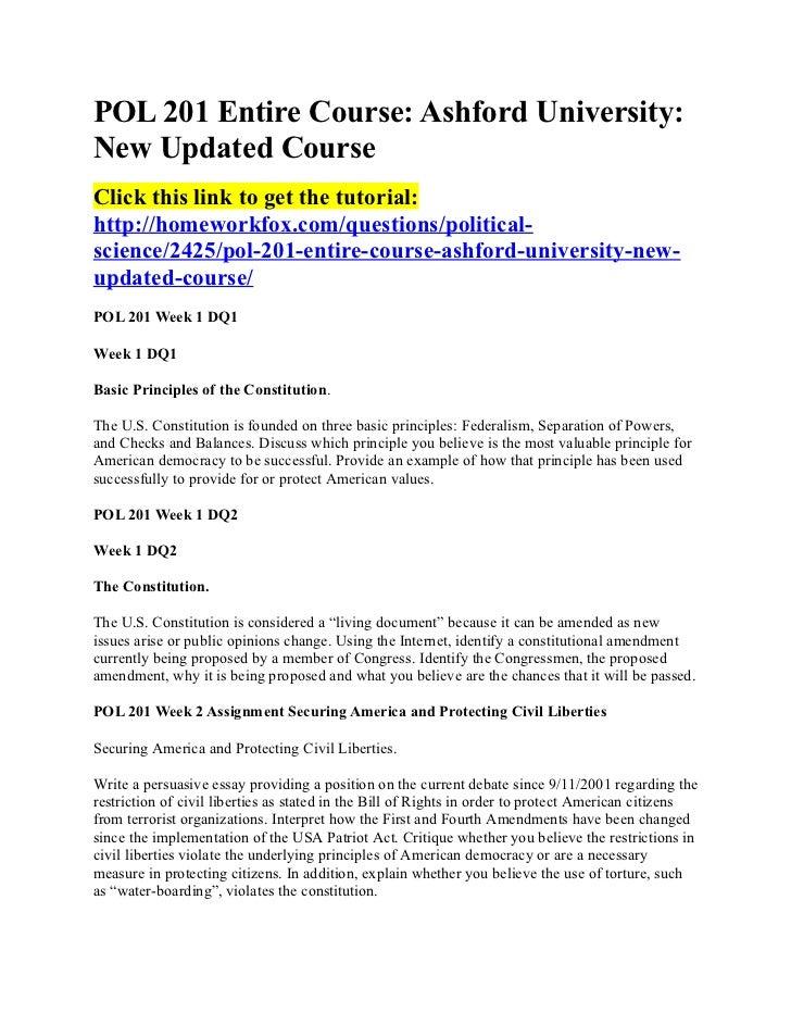 POL 201 Entire Course