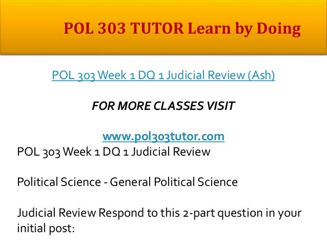 POL 497 POL/497 POL497 Week 2 Discussion 2 Identifying Variables and Research