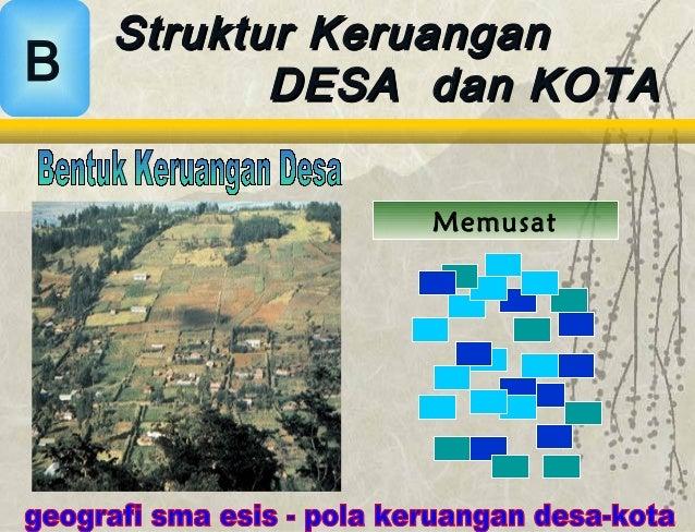 Pola Keruangan Desa Kota
