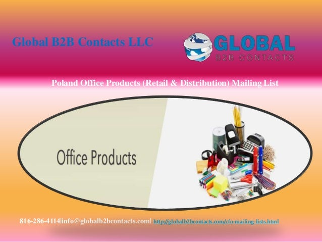 Poland office products (retail & distribution) mailing list