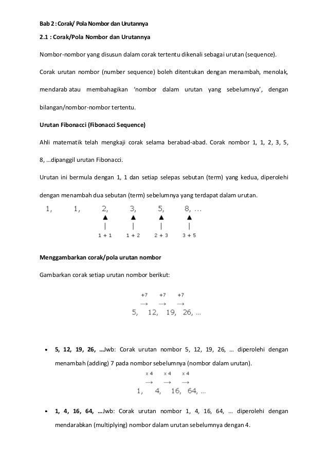 Pola nombor