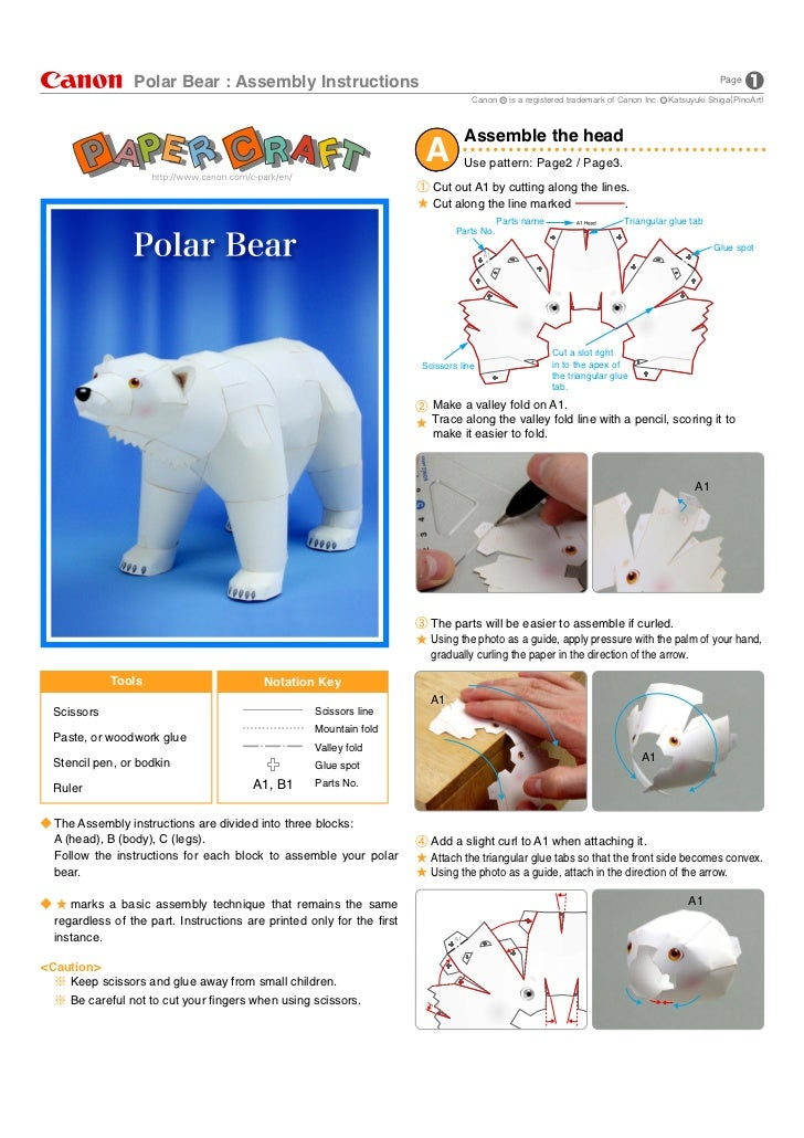 Polar Bear : Assembly Instructions                                                                                        ...