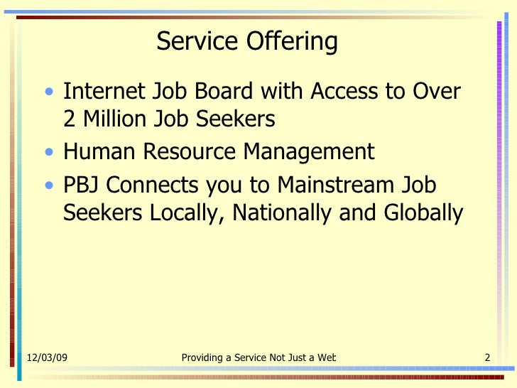 com job board capability statement 2