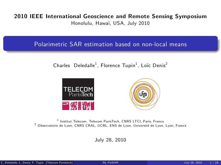 2010 IEEE International Geoscience and Remote Sensing Symposium                                                   Honolulu...