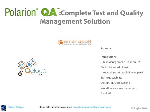 Polarion Software 	   	    	   	   	    	   	   	    	   	   	    	   	   	    	   :Complete Test and Quality Management S...