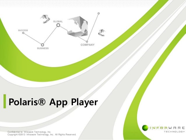 Polaris® App Player Confidential to Infraware Technology, Inc. Copyright © 2013 Infraware Technology, Inc. All Rights Rese...