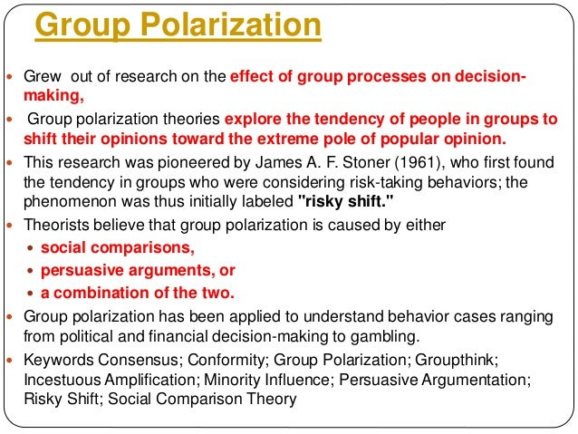 group polarization and competition in political behavior Humanities term papers (paper 8365) on group polarization and competition in political behavior: on tuesday, november 14, 1995, in what has been perceived as the years biggest non-event, the federal government shut down all non term paper 8365.