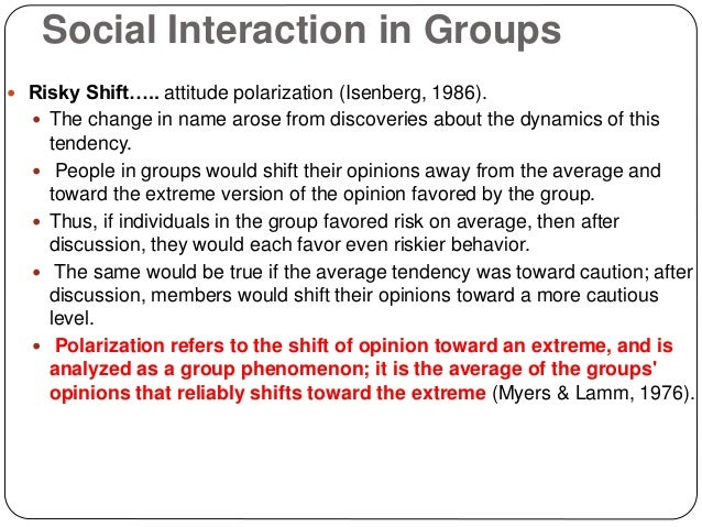 "group polarization Group polarization what is group polarization explain how groups become ""polarized"" what is de-individuation what factors make de-individuation more likely."