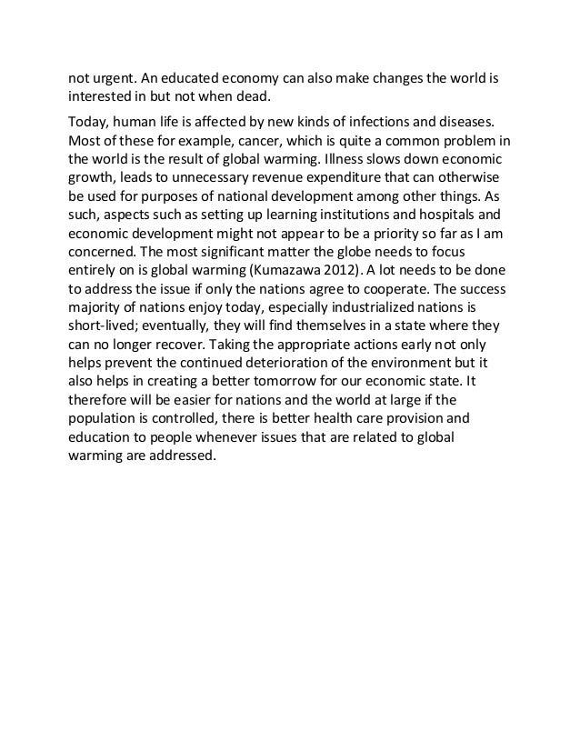 Sample essay global warming