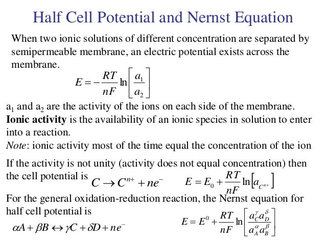 the effect of concentration of electrolyte on the potential difference in voltaic cell Determination of emf of a cell theory theory  1 m concentration of electrolyte,  or cell potential the potential difference between the two electrodes in a.