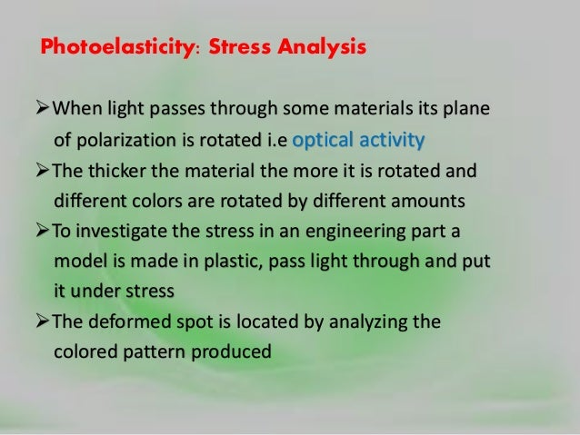 Polarization, scattering &absorption of light