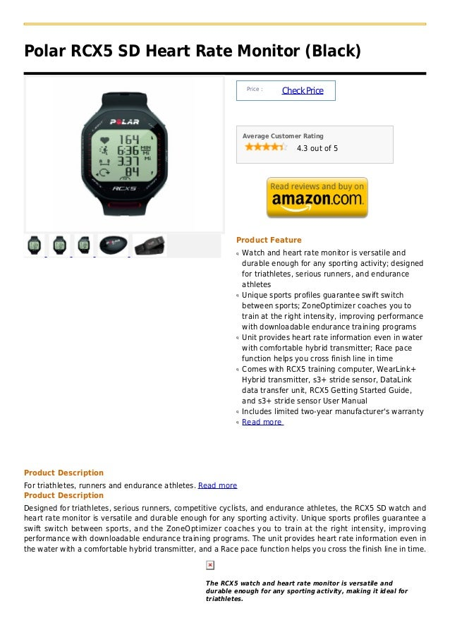 Polar RCX5 SD Heart Rate Monitor (Black)                                                                 Price :          ...
