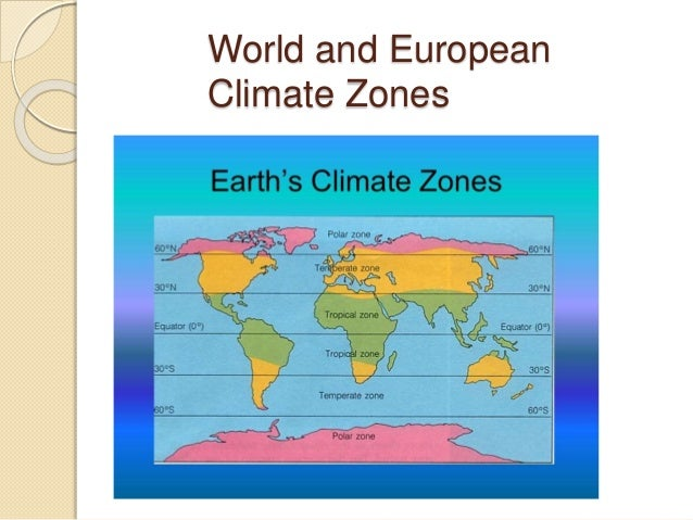 World and European Climate Zones