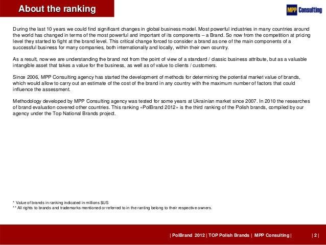 PolBrand 2012 - TOP 100 Polish Brands Slide 2