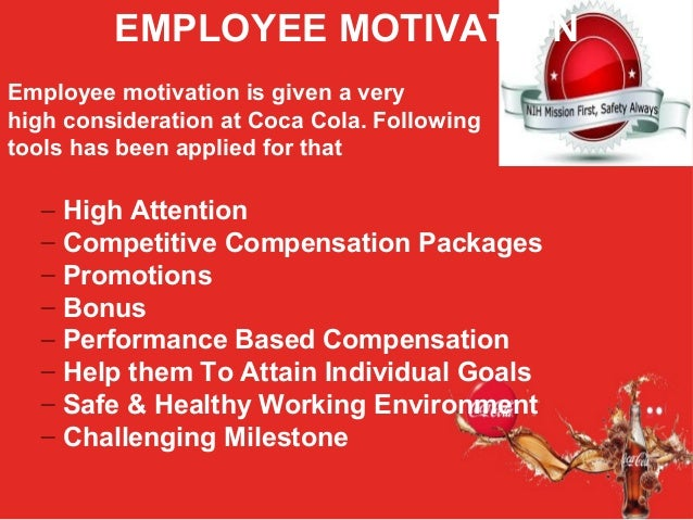 coca cola compensation strategy Coca-cola enterprises, inc pays its employees an average of $59,485 a year salaries at coca-cola enterprises, inc range from an average of $39,490 to $109,024 a year.