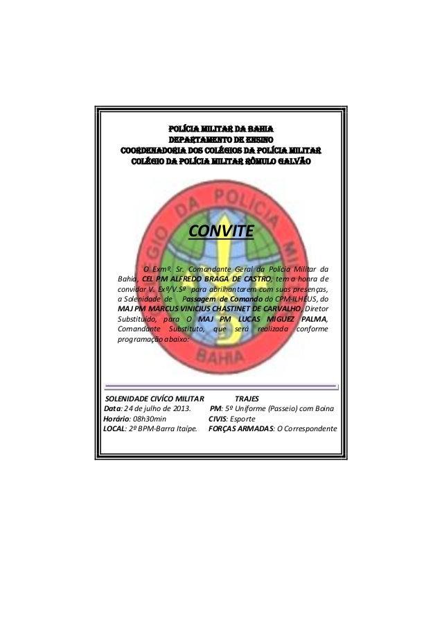 Polícia militar da Bahia DEPARTAMENTO DE ENSINO Coordenadoria dos colégios  da polícia militar COLÉGIO DA POLÍCIA 153dabd4f05