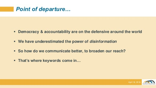 The political construction of accountability keywords: lessons from action-research (Professor Jonathan Fox) Slide 3
