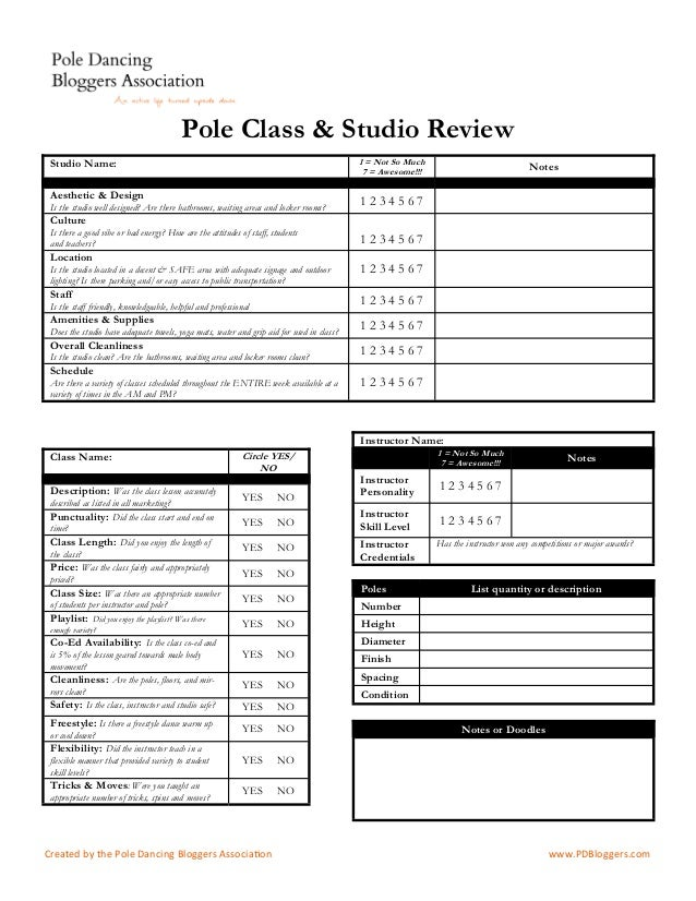 Pole Dance Class and Studio Review