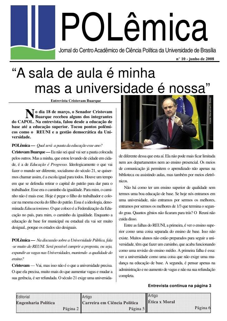 POLêmica                              Jornal do Centro Acadêmico de Ciência Política da Universidade de Brasília          ...