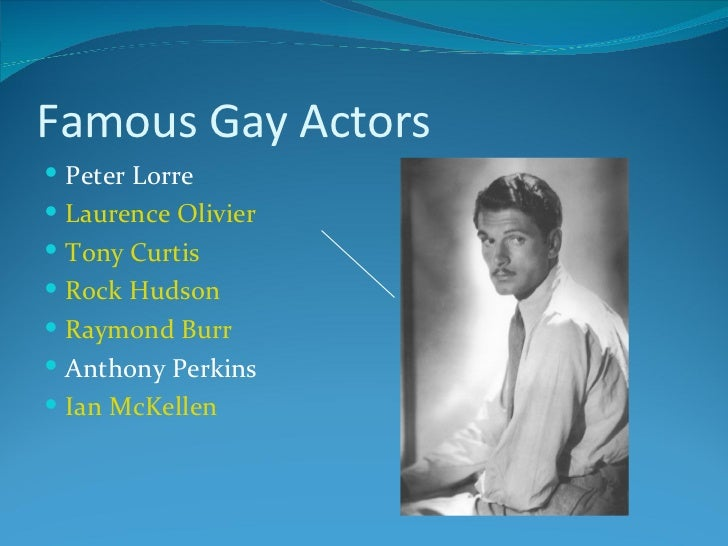 Tony curtis is gay