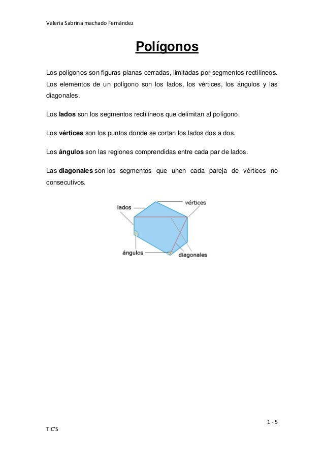 Valeria Sabrina machado Fernández                                    PolígonosLos polígonos son figuras planas cerradas, l...