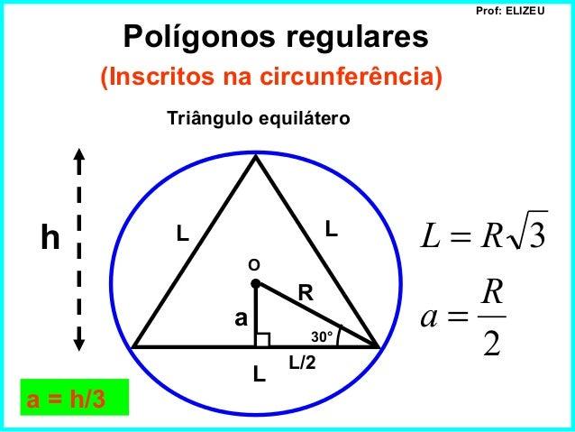 Polígonos regulares inscritos e circunscritos Slide 2