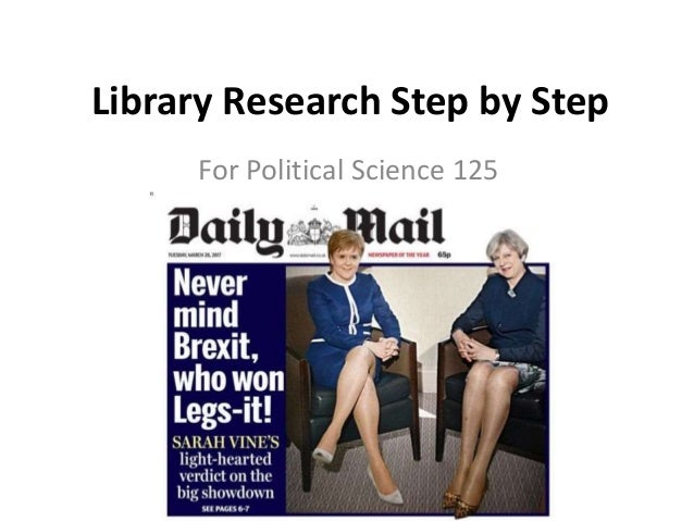 Library Research Step by Step For Political Science 125