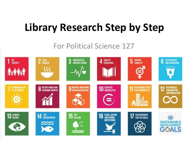 Library Research Step by Step For Political Science 127