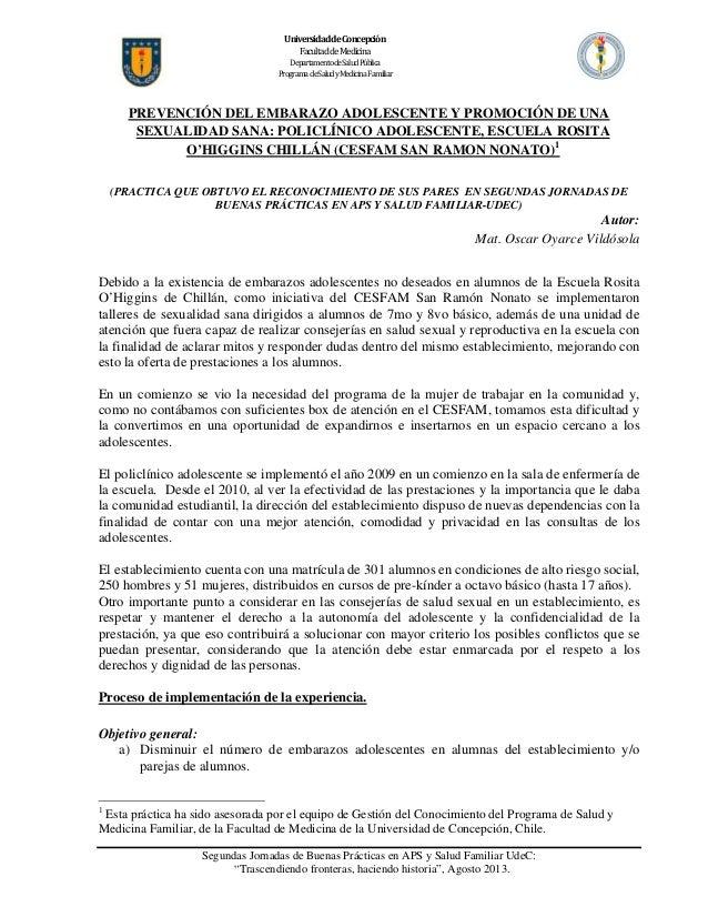 UniversidaddeConcepción FacultaddeMedicina DepartamentodeSaludPública ProgramadeSaludyMedicinaFamiliar  ...