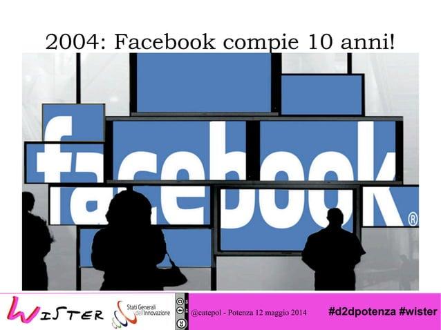 #d2dpotenza #wister 2004: Facebook compie 10 anni! @catepol - Potenza 12 maggio 2014