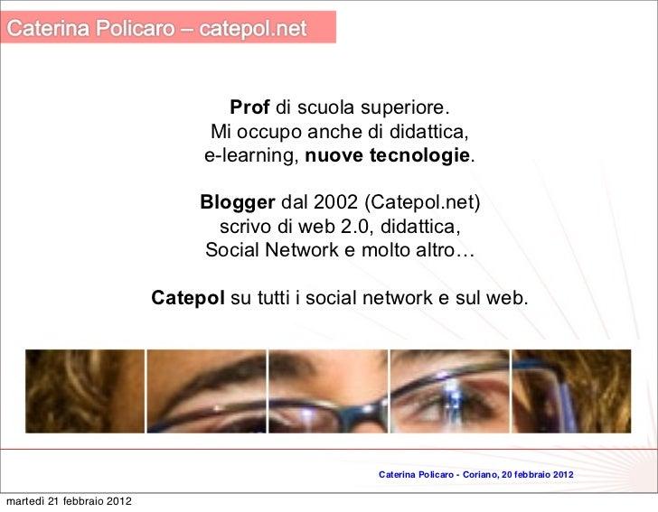 Strumenti Web 2.0 per la didattica Slide 2