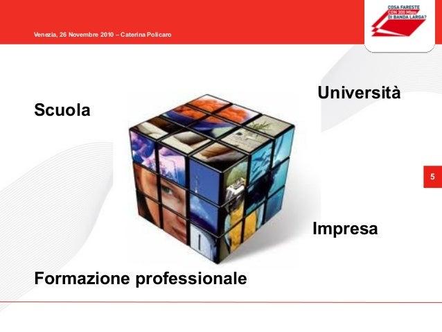 5 Venezia, 26 Novembre 2010 – Caterina Policaro Scuola Università Formazione professionale Impresa