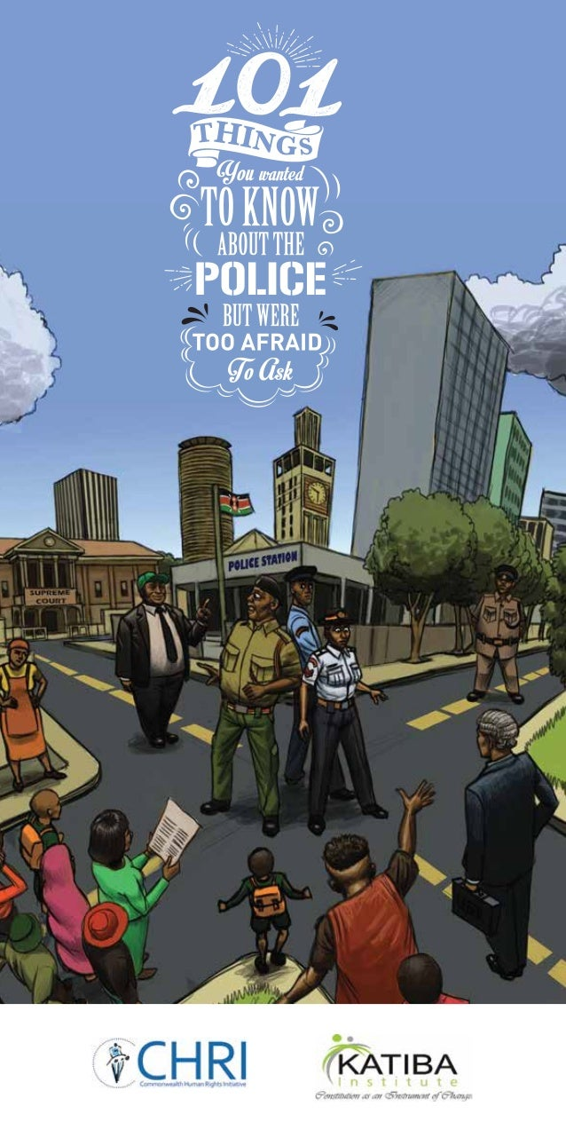PDF of the 101 Things you need to know about the police