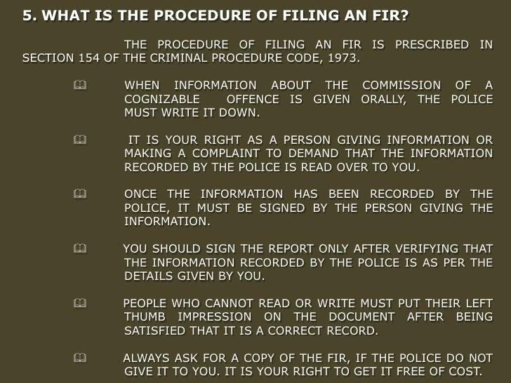 procedure after fir