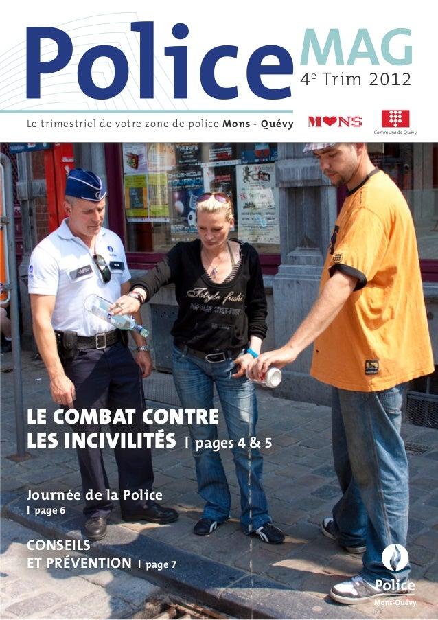 4 e Trim 2012Le trimestriel de votre zone de police Mons - Quévy                                                          ...