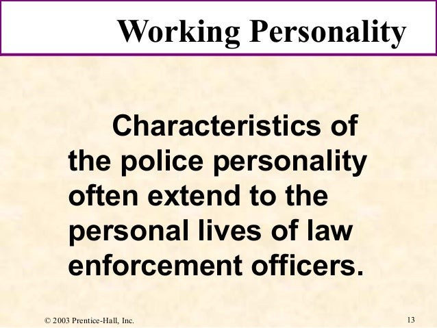 police working personality