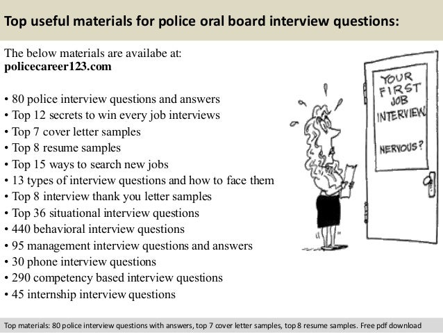 Police oral board interview questions
