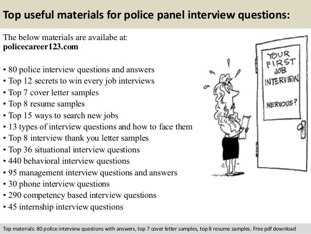 Police panel interview questions