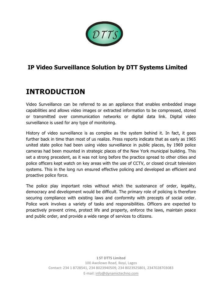 D TTS                                                      IP Video Surveillance Solution b...