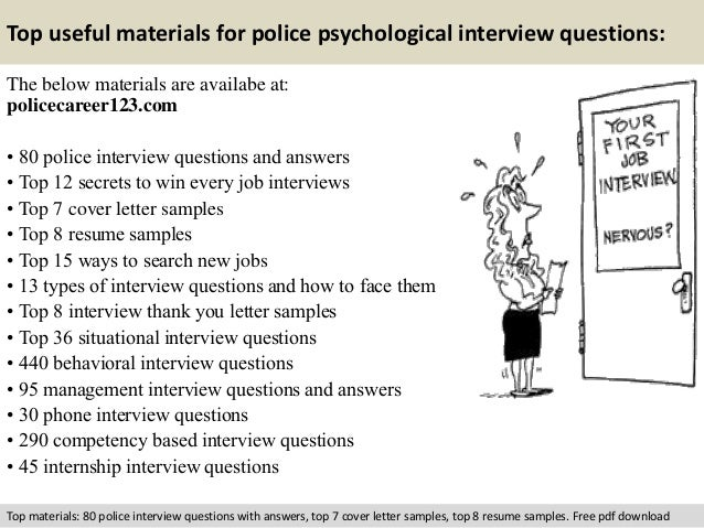 psychological interview questions and answers pdf