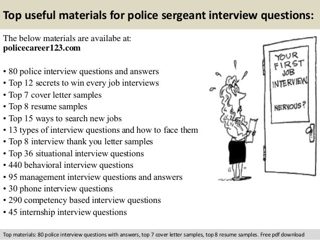 police sergeant interview questions