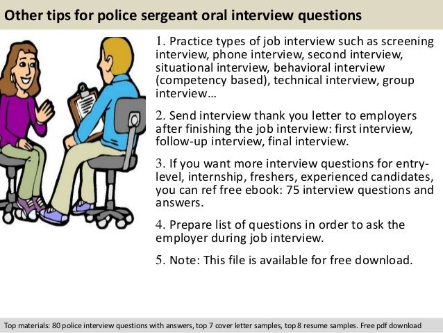 oral interview questions and answers pdf