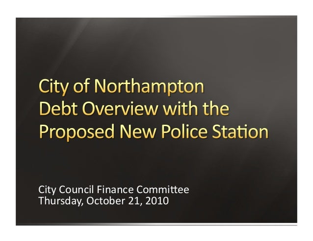 City  Council  Finance  Commi/ee   Thursday,  October  21,  2010