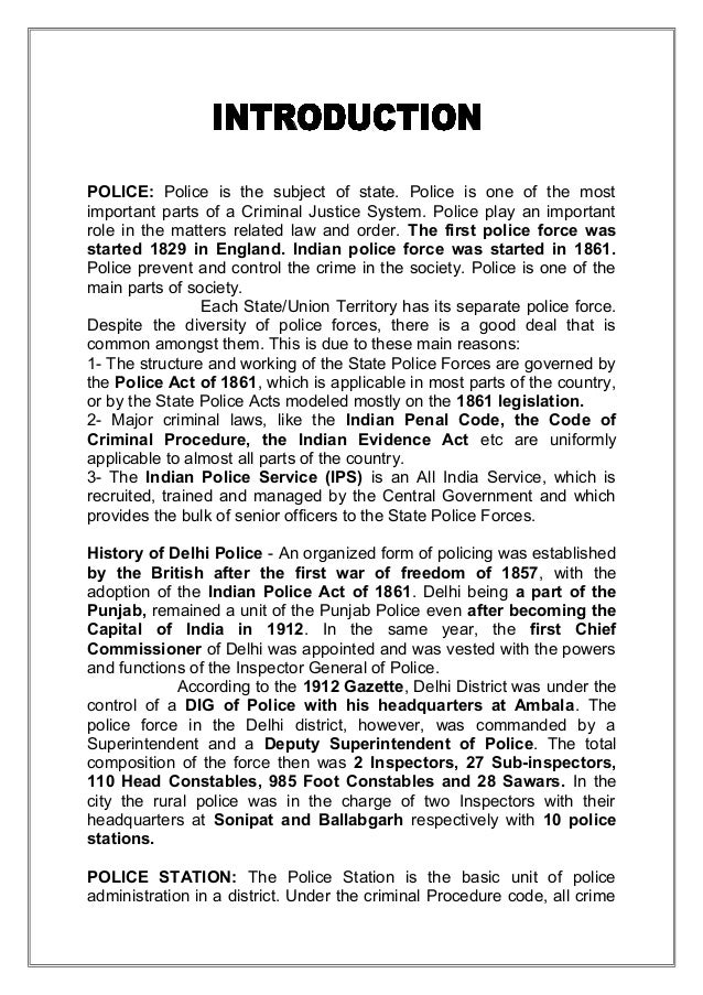 the most important role of the police is to prevent crime essay Police brutality occurs in concurrence with police perjury as officers who commit police brutality will most likely lie on the stand to prevent the possibility of a lawsuit or departmental charges in the mauritian context, police brutality as perceived by the public is a real scourge.