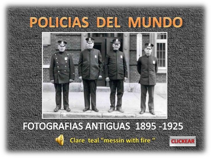 FOTOGRAFIAS ANTIGUAS ENTRE 1895 A 1925  POLICIA DE LAS CATARATAS DEL NIAGARA 1908