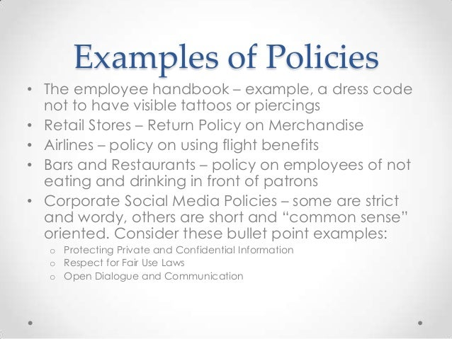 policies and contracts