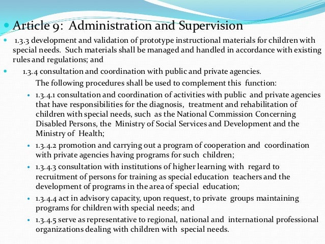  Article 9: Administration and Supervision 1.3.3 development and validation of prototype instructional materials for chi...