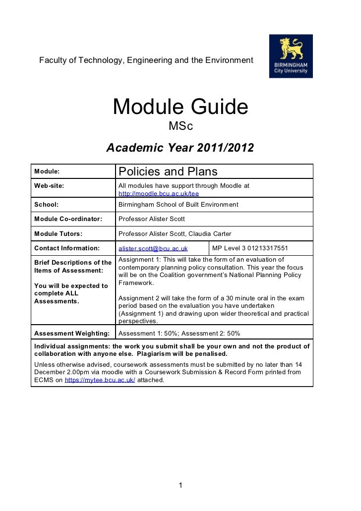 Faculty of Technology, Engineering and the Environment                            Module Guide                            ...